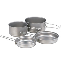 Набор посуды SnowPeak MULTI COMPACT COOKSET TITANIUM
